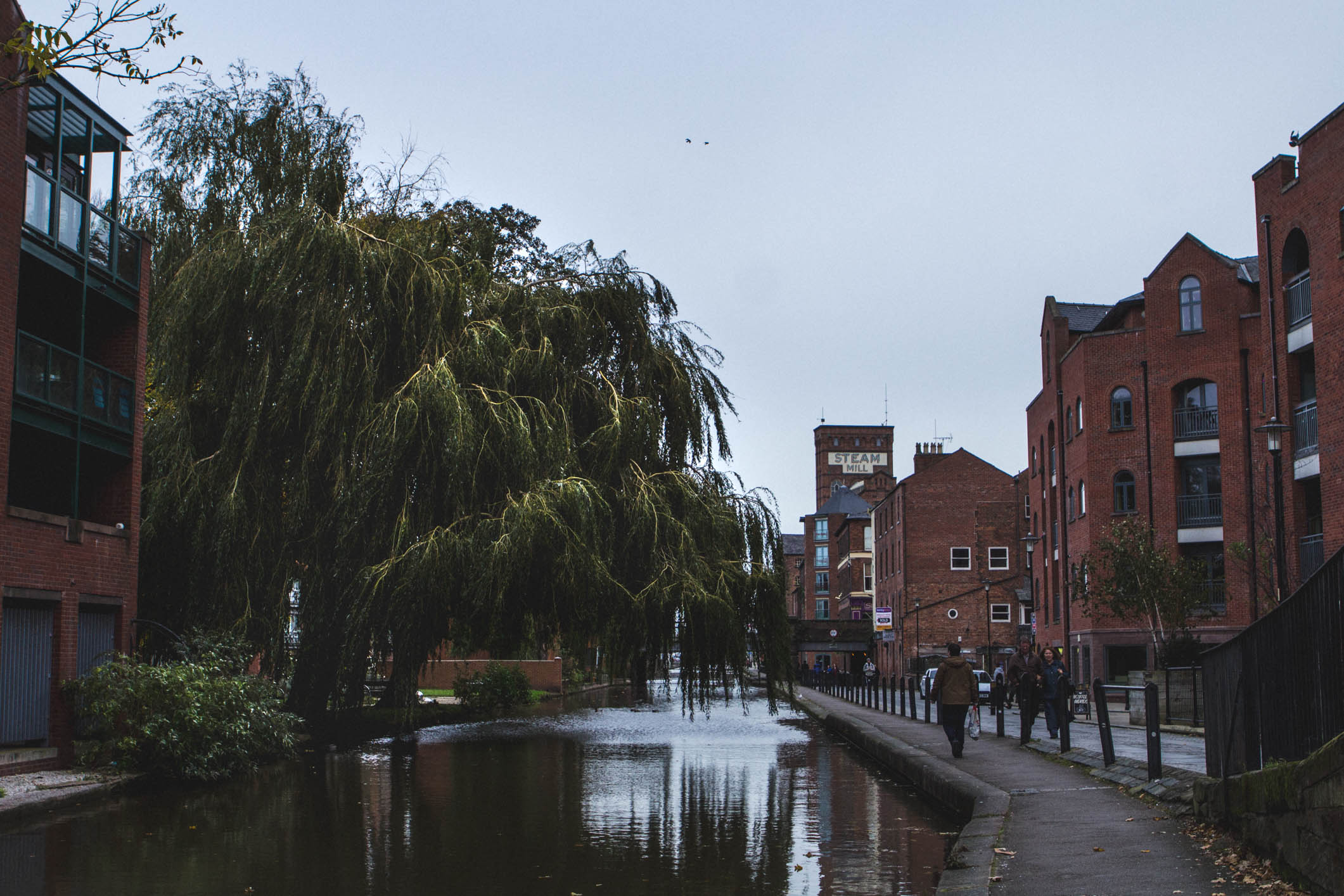 The Chester canal, with the Steam Mill visible in the background