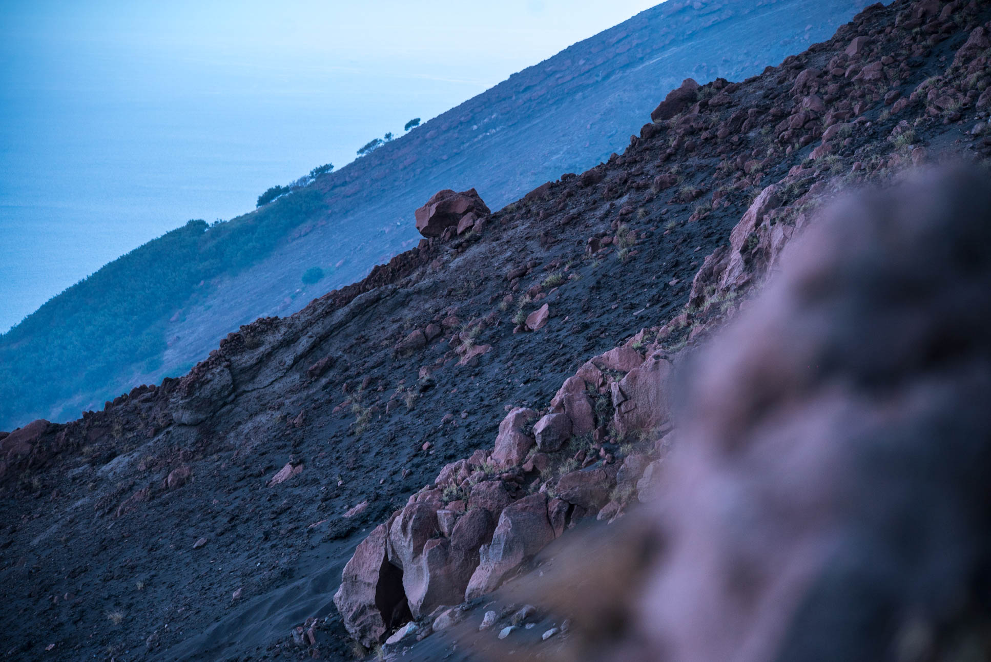 Photo by Pascal Sommer - Walking up towards the crater of Stromboli