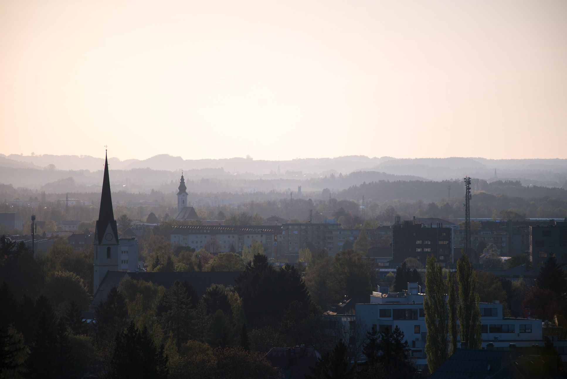 Photo by Pascal Sommer - View from Mönchsberg, Salzburg