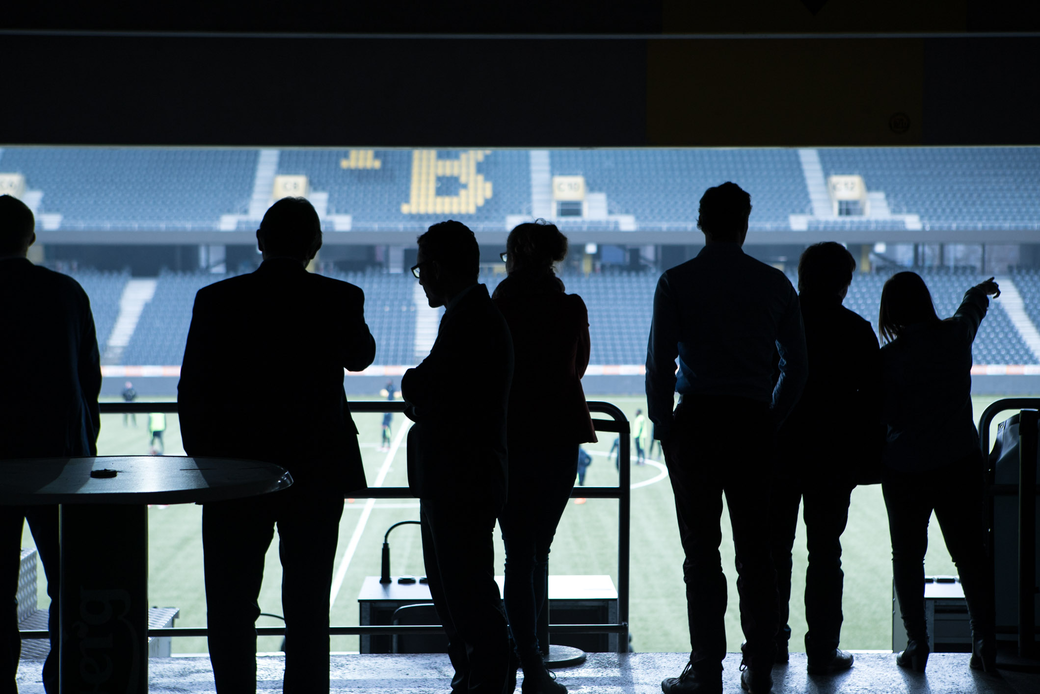 Photo by Pascal Sommer - Politicians in the Stade de Suisse