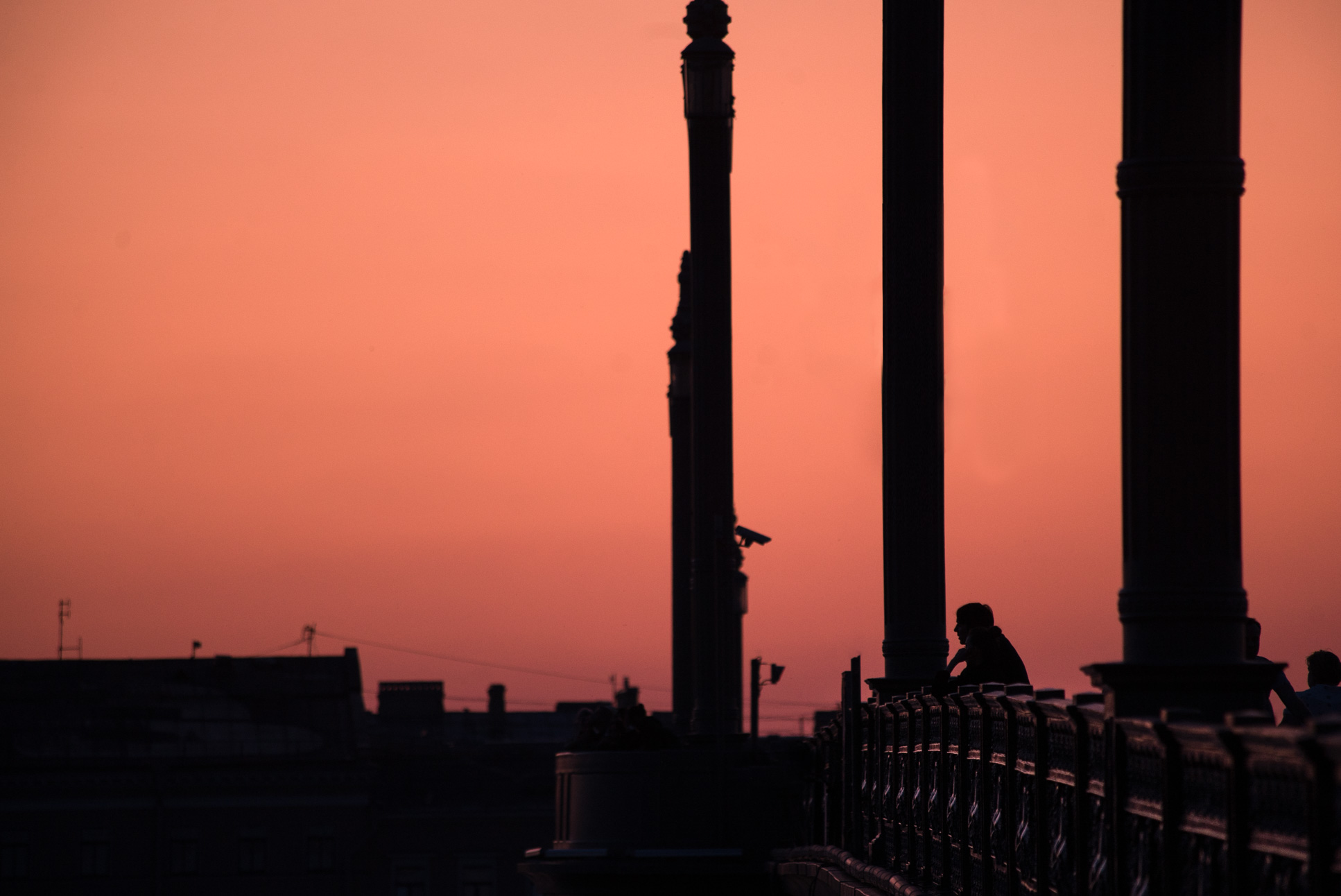 Sunset over the Palace Bridge