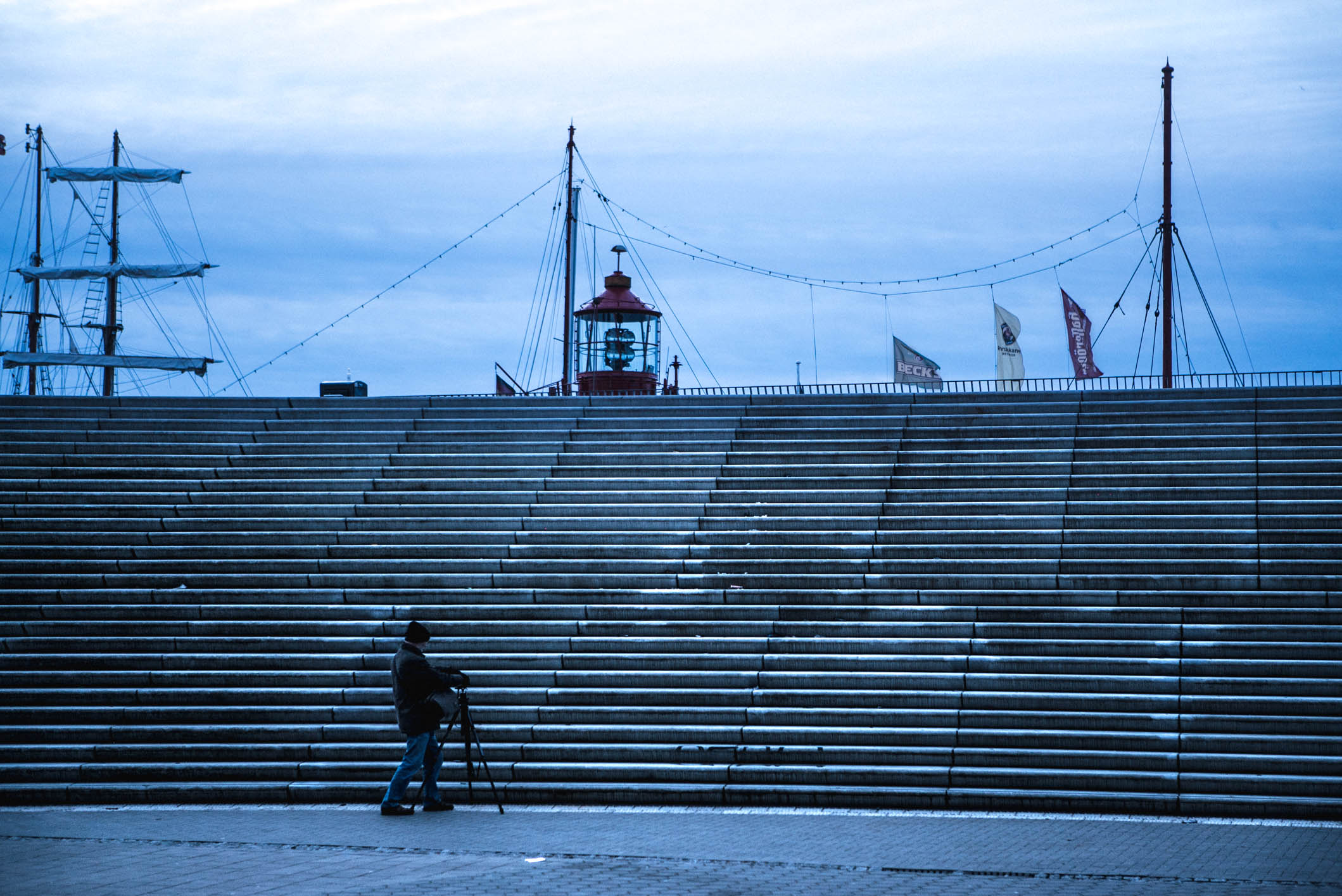 Photo by Pascal Sommer - On the Elbpromenade. Not strictly HafenCity, but I don't care.