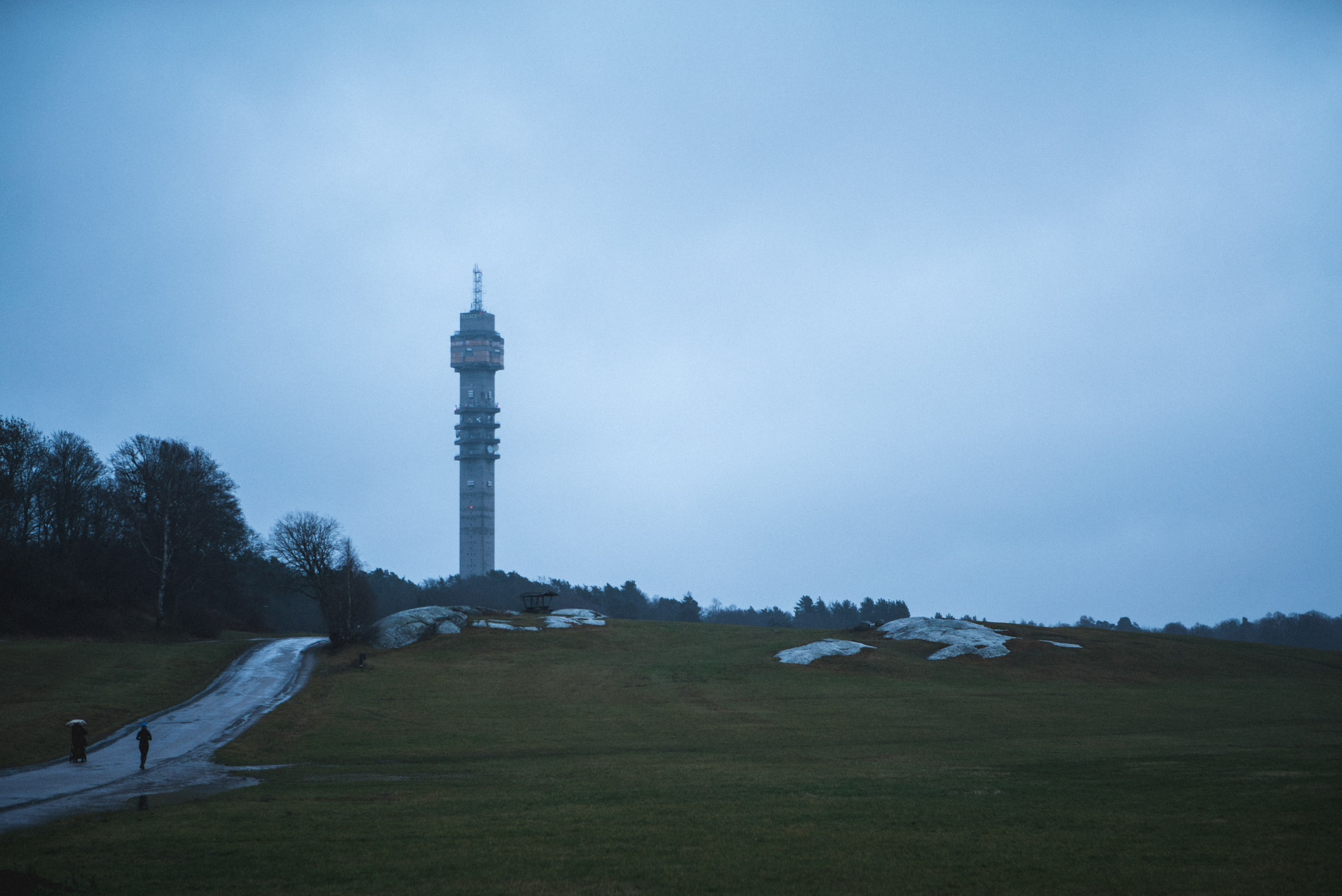 Kaknästornet, a TV tower on the outskirts of Stockholm
