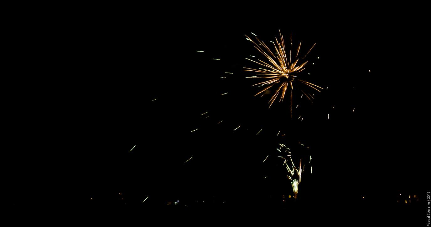 Fireworks on Bonfire Night in Chester