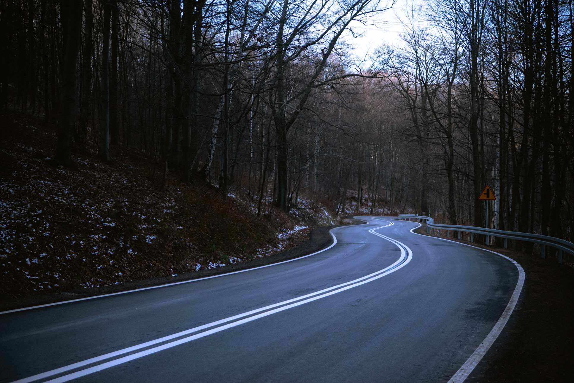 Very tempting to ride a longboard down this road, might not be the safest thing to do though
