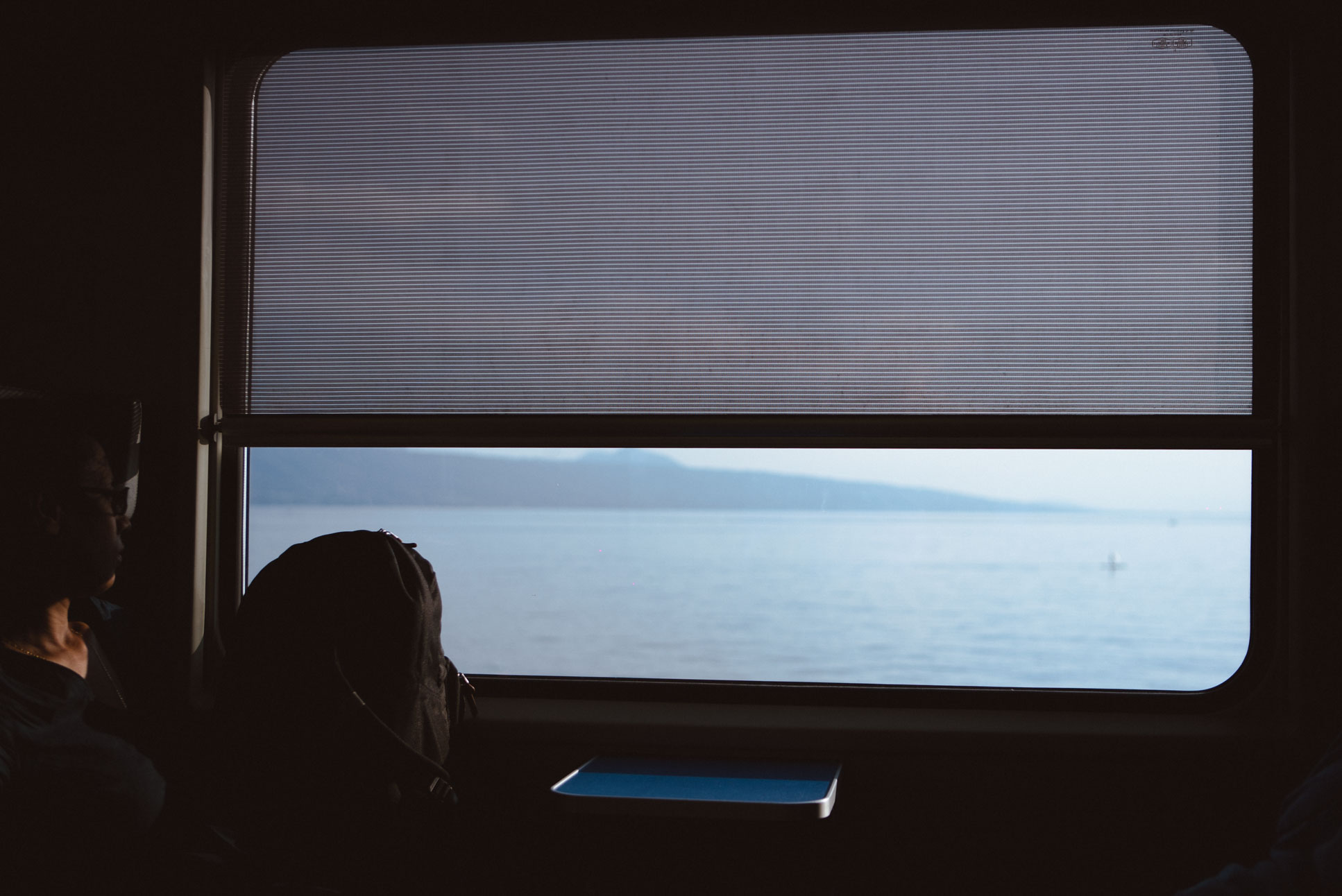 On the train to Lausanne