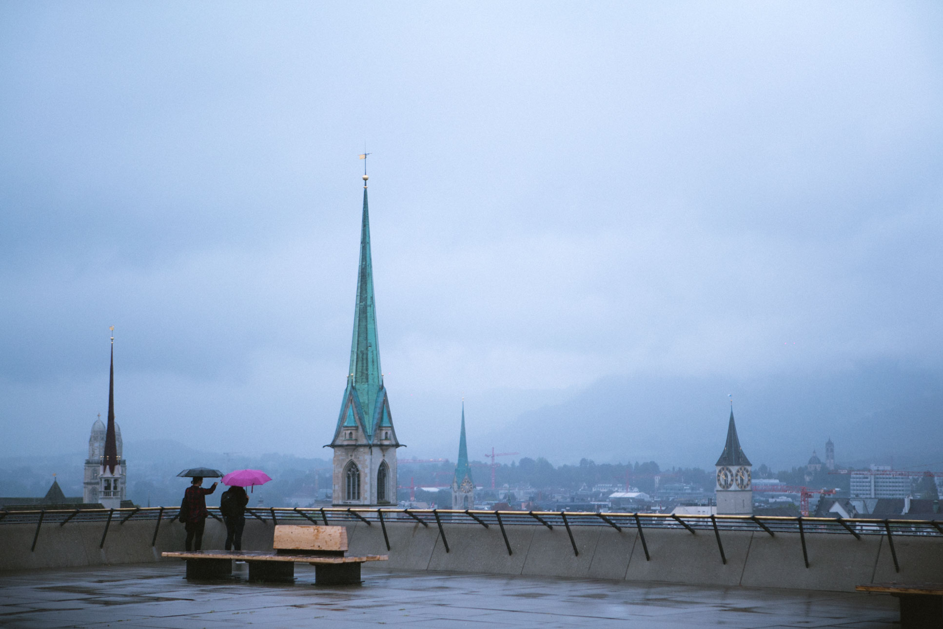 ETH Polyterrasse is one of the best spots to observe the weather over Zurich
