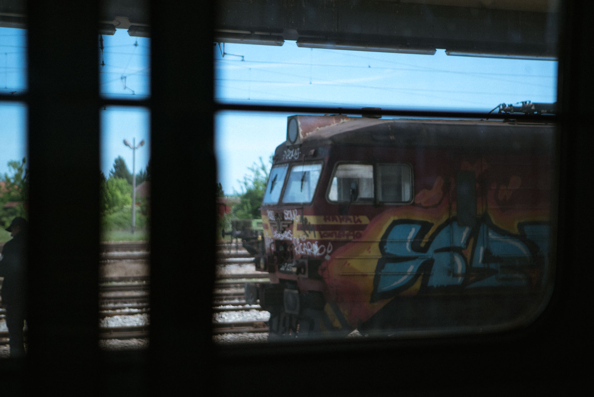 all across the Balkans I saw some beautiful graffiti on trains