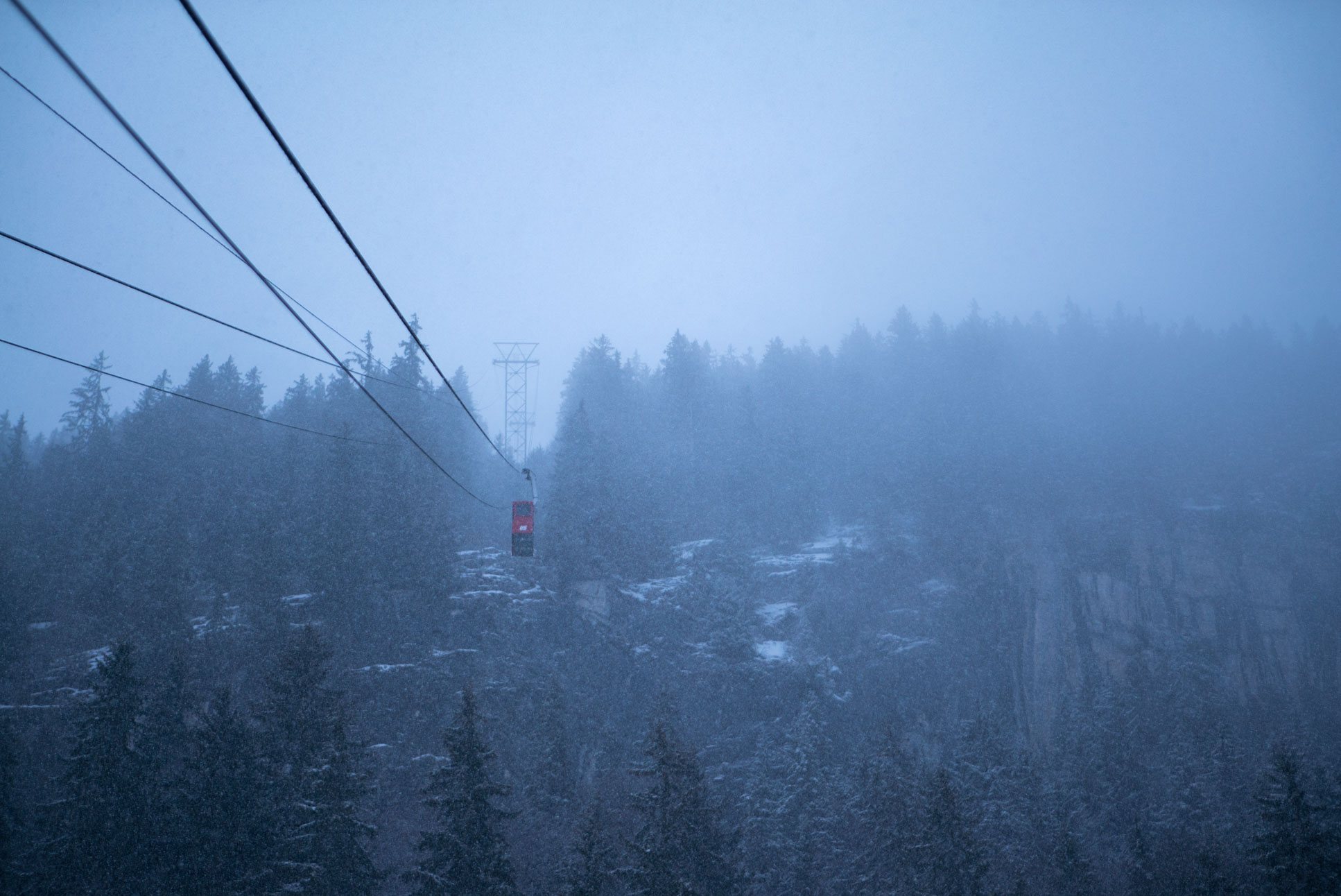 Photo by Pascal Sommer - Gondola from Isenfluh to Sulwald