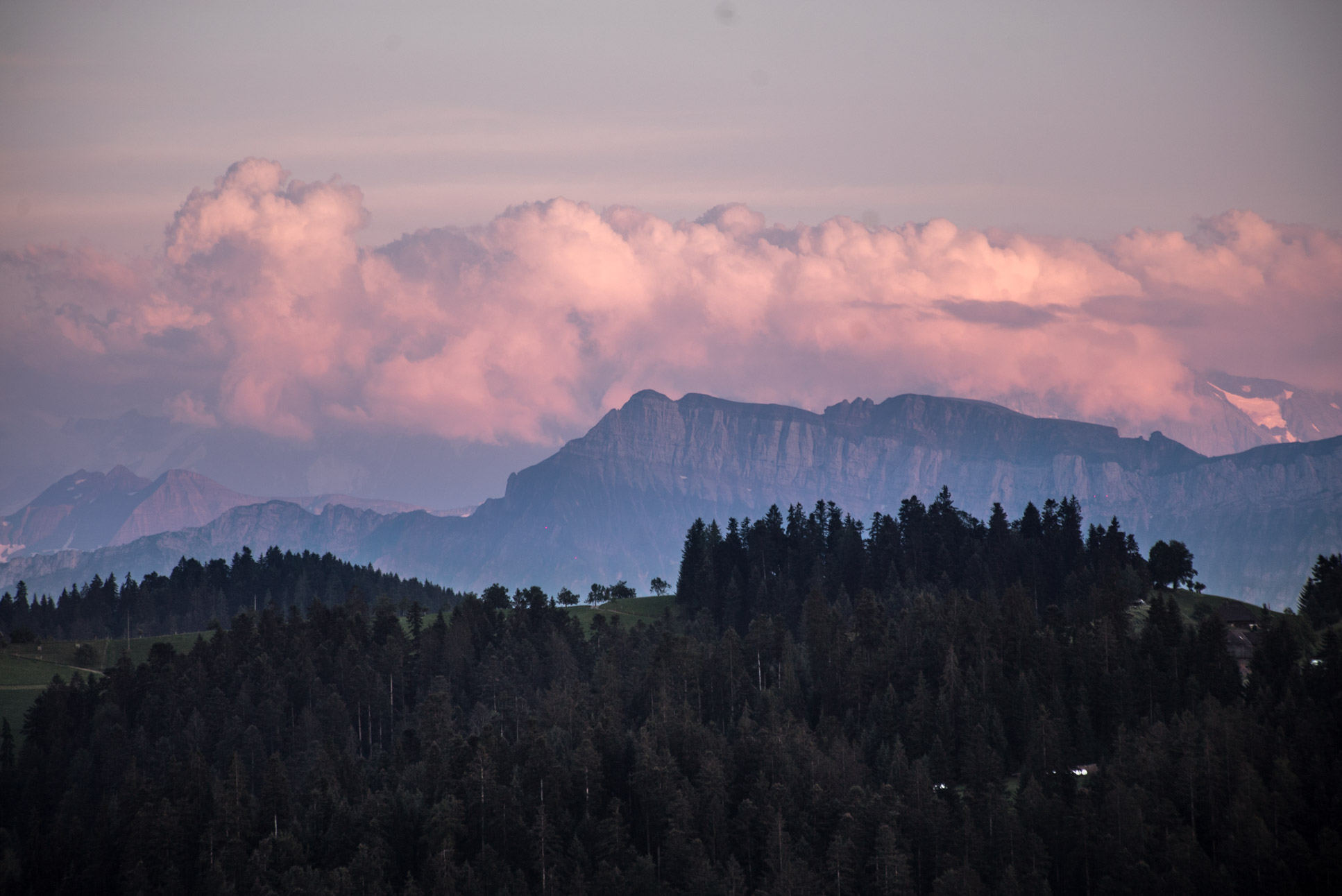 Photo by Pascal Sommer - The mountain visible is Schrattenfluh